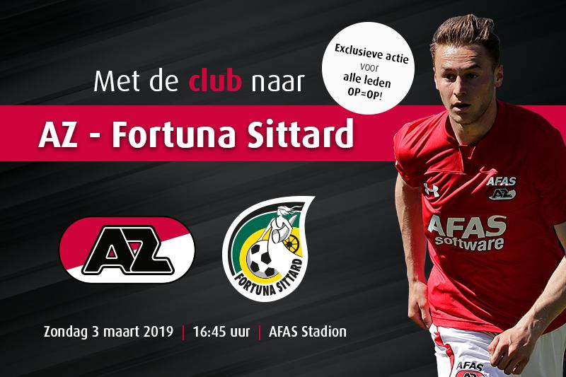 Met HSV naar AZ – Fortuna Sittard op 3 maart