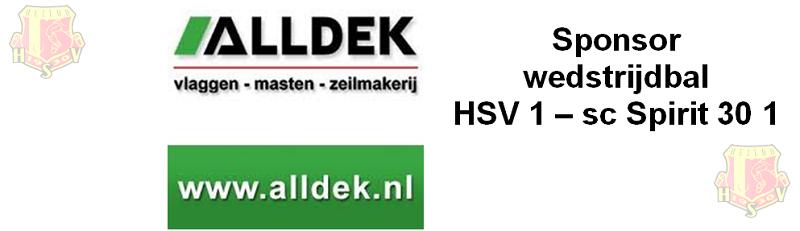 Balsponsor HSV 1 – Spririt '30 1: Alldek Vlaggen