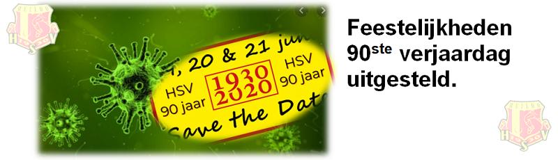 """""""HSV 90 JAAR"""" UITGESTELD"""