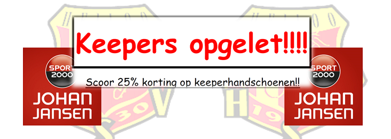 Keepers Actie #Johan Jansen Sport 2000