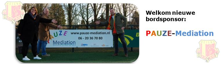 We verwelkomen Pauze Mediation als nieuwe bordsponsor!